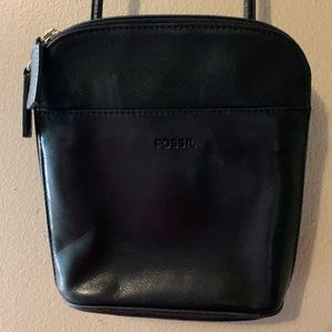 Fossil crossbody purse black